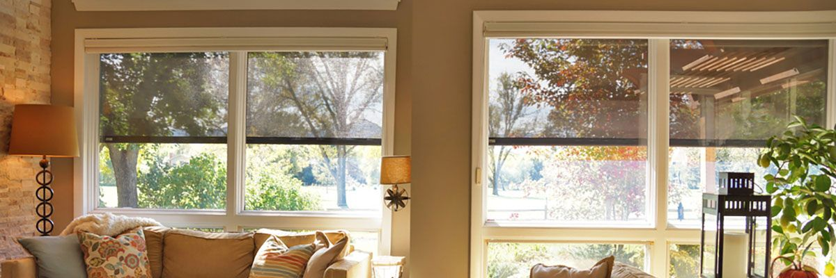 Exterior Solar Shades for Living Room