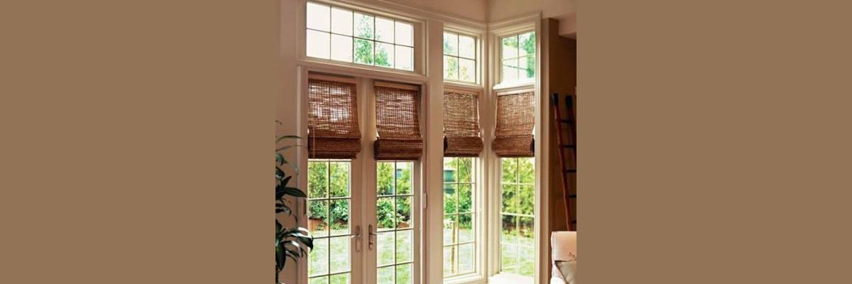 Natural Blinds for French Doors