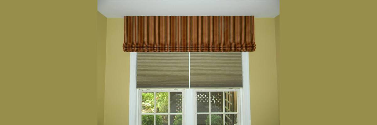 Roman Shades Over Blinds