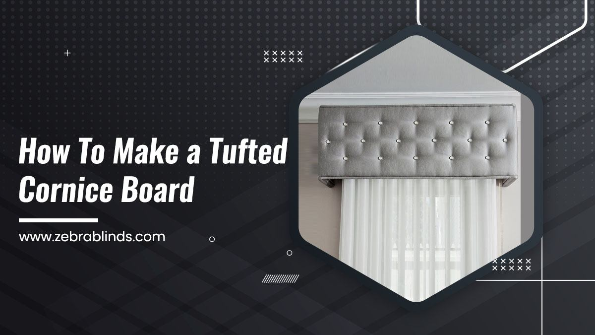 How To Make a Tufted Cornice Board