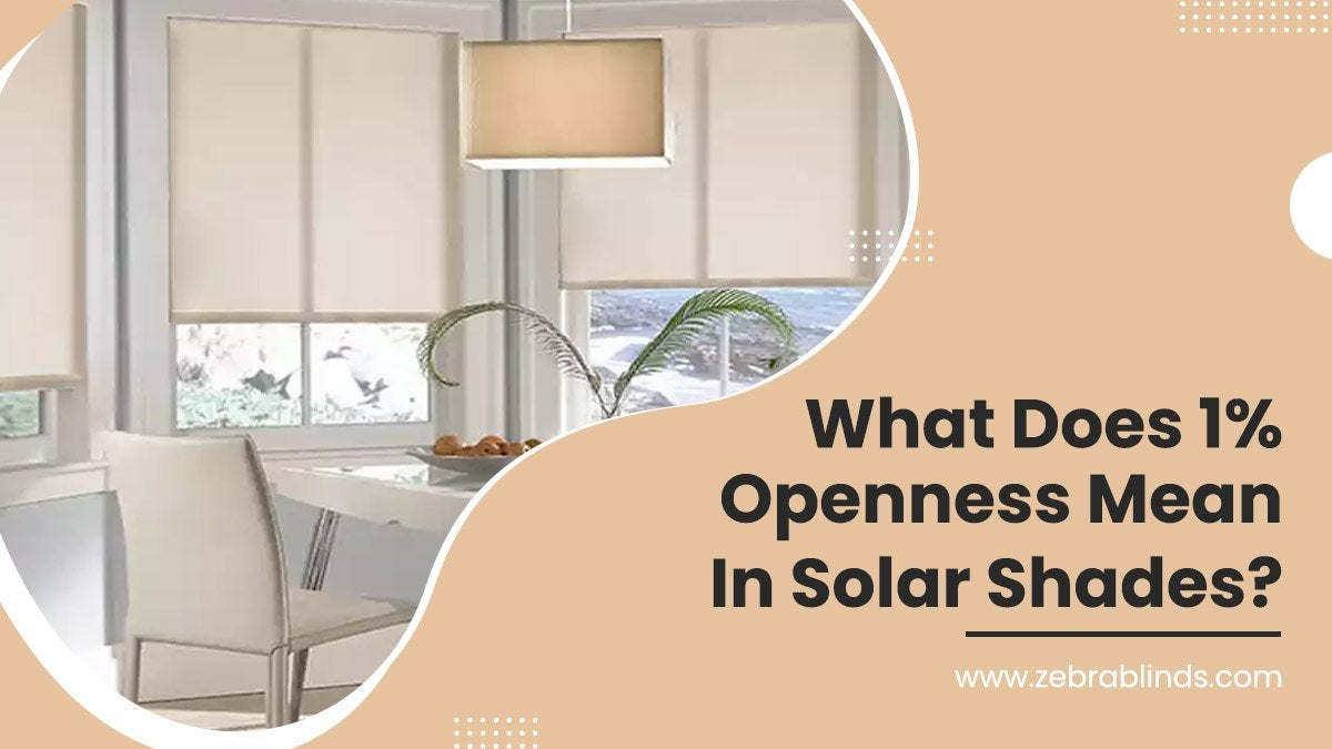 What Does 1 Openness Mean In Solar Shades