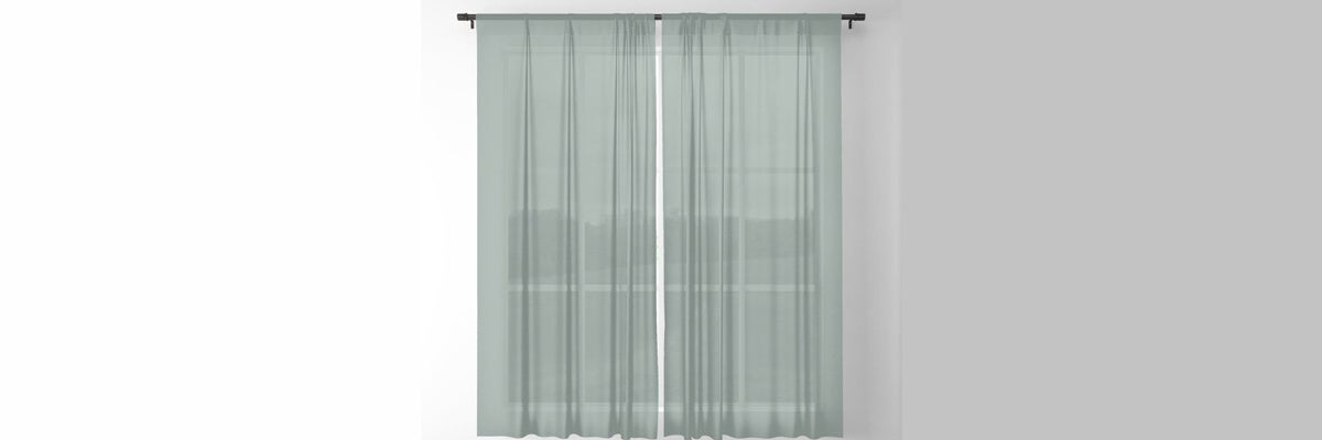 Muted Green Curtains