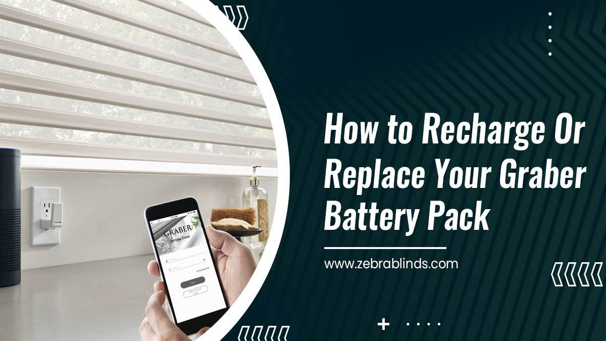 How to Recharge Or Replace Your Graber Battery Pack