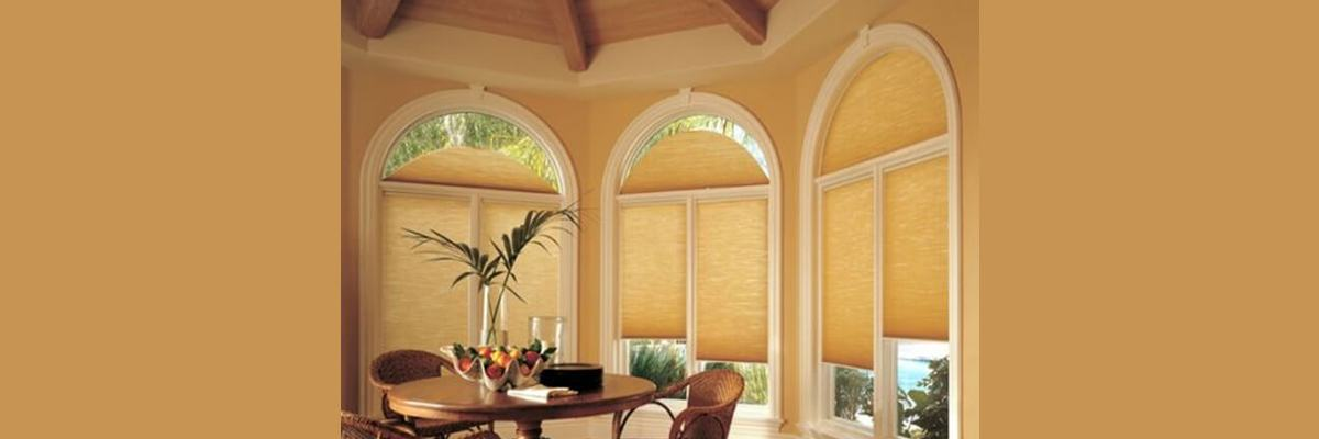 Cellular Shades for Curved Windows