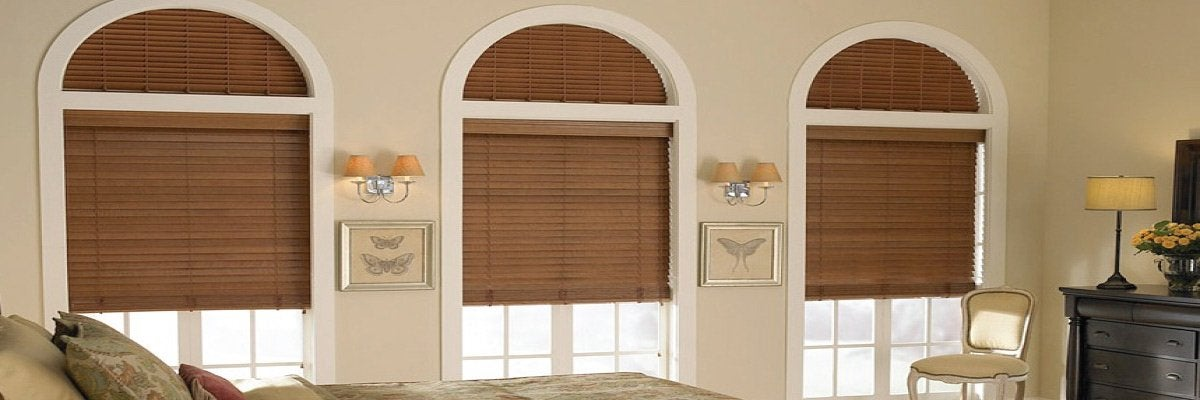 Real Wood Blinds for Arch Windows