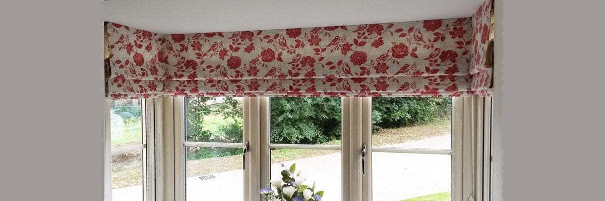 Roman Shades for Square Bay Windows