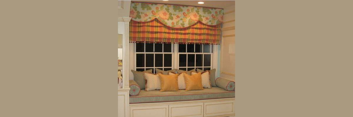 Roman Shades with Valances for Bedroom