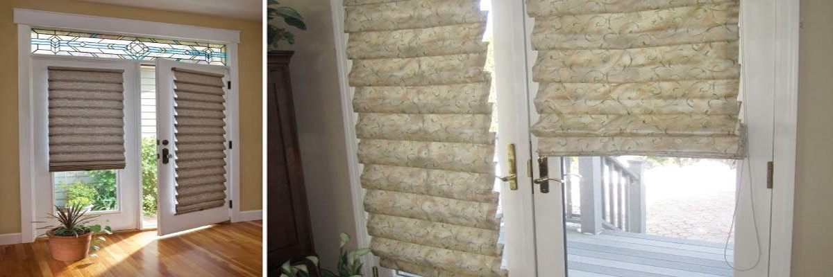 Roman Shades for French Door