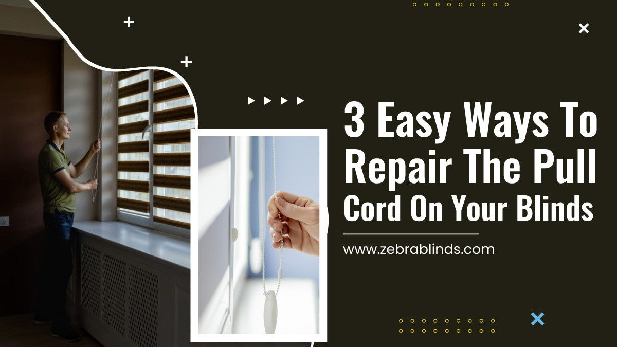 3 Easy Ways to Repair the Pull Cord on Your Blinds