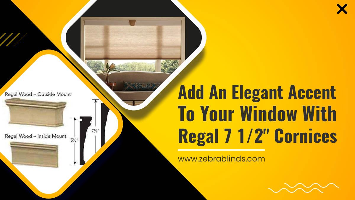 "Add an Elegant Accent to your Window with Regal 7 ½"" Cornices"