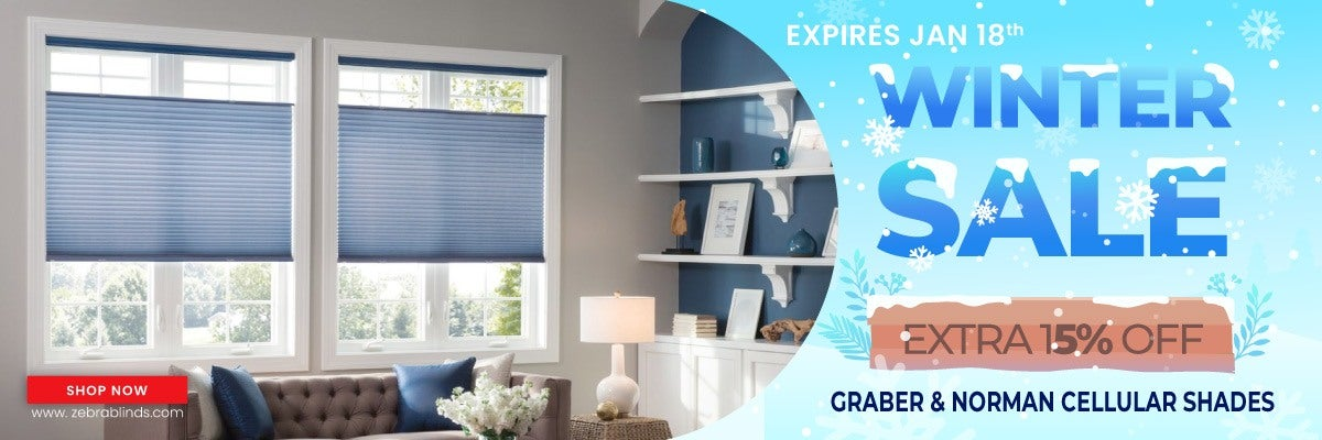 Save an additional 10% + Site wide discount on Graber & Norman Cellular Shades