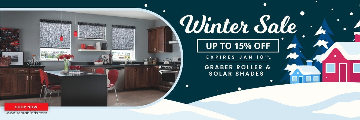 Save an additional 15% + Site wide discount on Graber Roller and Solar Shades