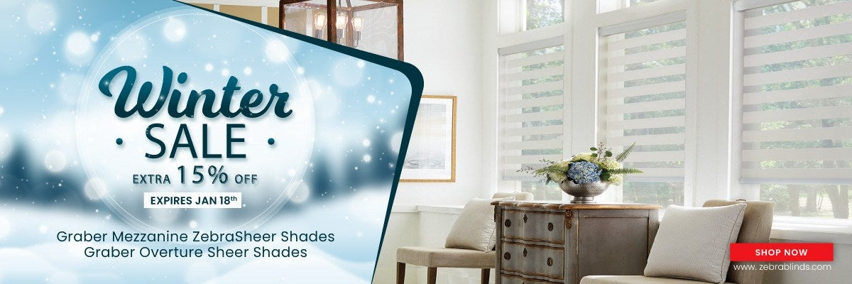Save 15% + Site wide discount on Graber Sheer Shades
