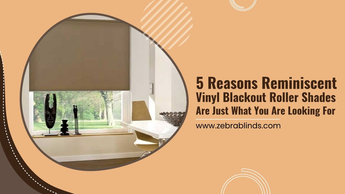 5 Reasons Reminiscent Vinyl Blackout Roller Shades Are Just What You Are Looking For