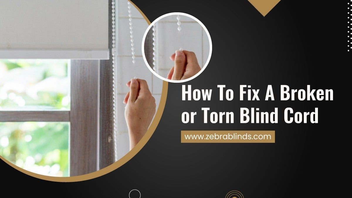 How to Fix A Broken or Torn Blind Cord