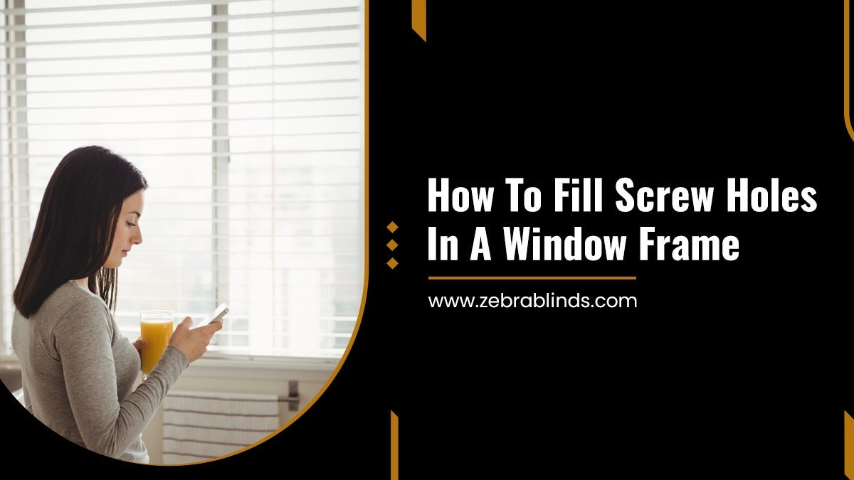 How-To-Fill-Screw-Holes-In-A-Window-Frame