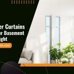 Using Sheer Curtains To Keep Your Basement Airy And Bright