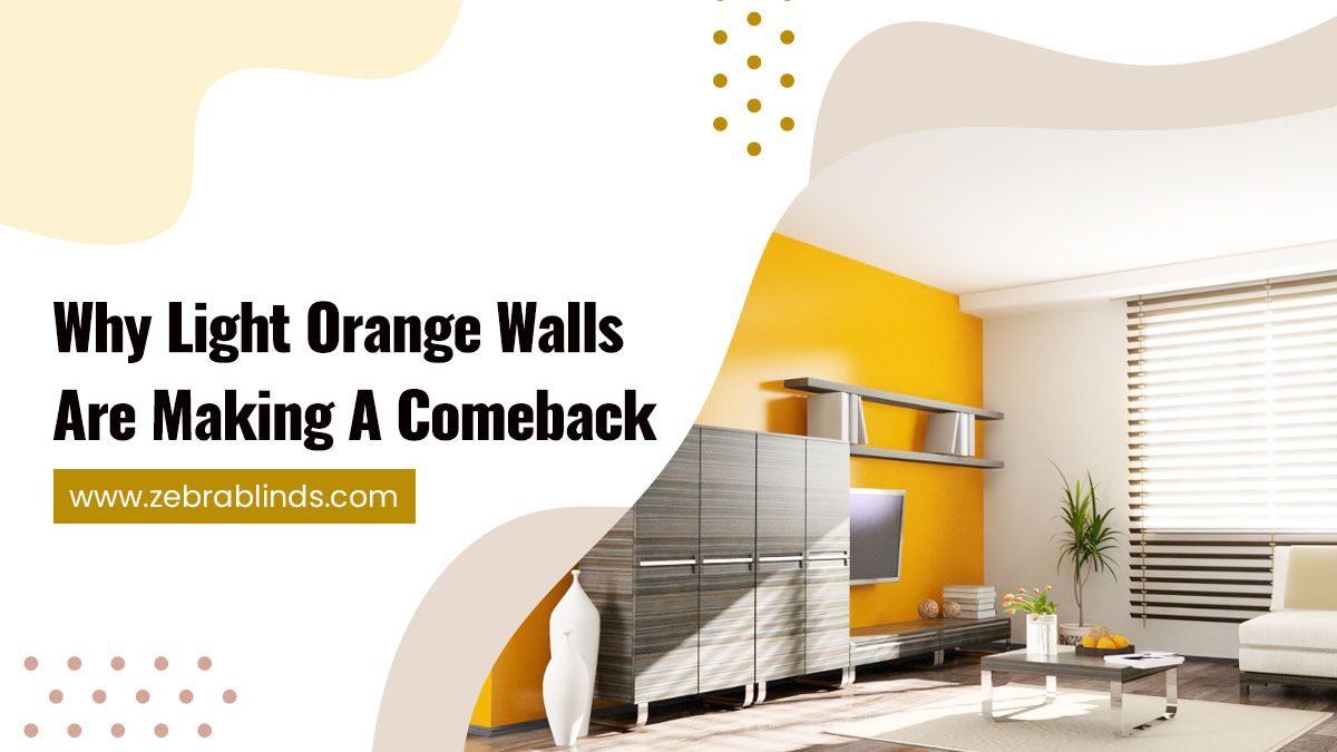 Why Light Orange Walls Are Making A Comeback