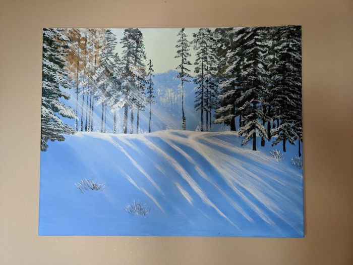 """A Sunny Winter Day - 16"""" X 20"""""""