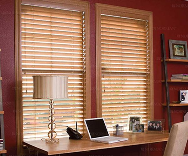 2 1/2 inches Faux Wood SmartPrivacy Blinds