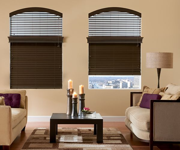 "2"" Traditions Graber Specialty Wood Motorized Blinds"