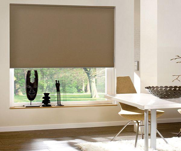 Motorized Crown Blackout Roller Shades