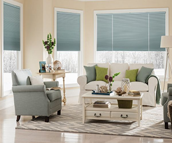 CrystalPleat Graber Blackout Motorized Cellular Shades