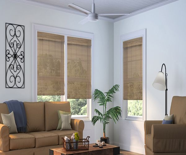 Natural Cordless Woven Wood Blinds Crown