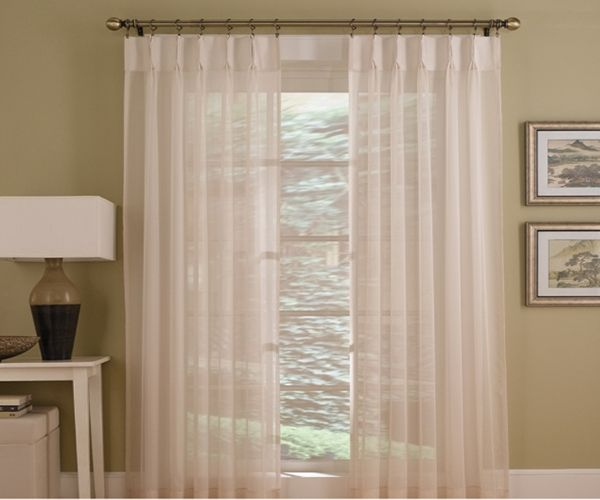 Sheers Pinch Pleat Crown Drapes