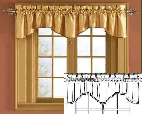 Scalloped Crown Custom Drapery Valances