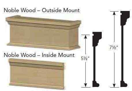 7 1/2 inch Graber Noble Wood Cornices
