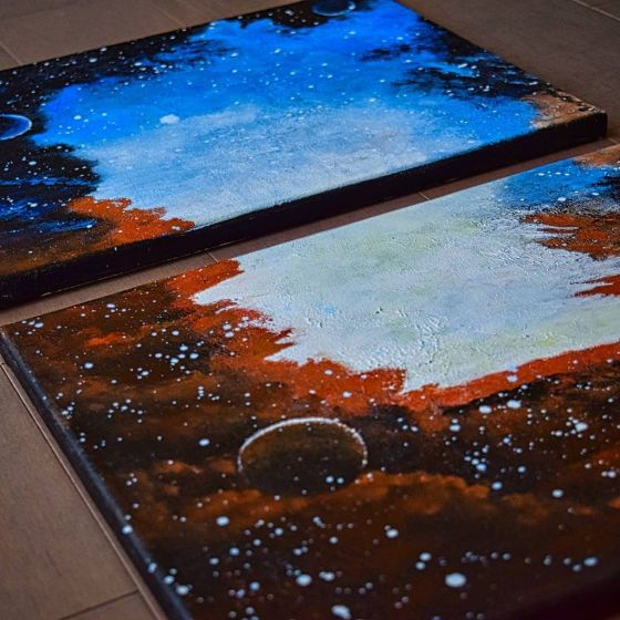 """The Galaxy in Colors – 11"""" X 14"""" – 2 Pieces"""