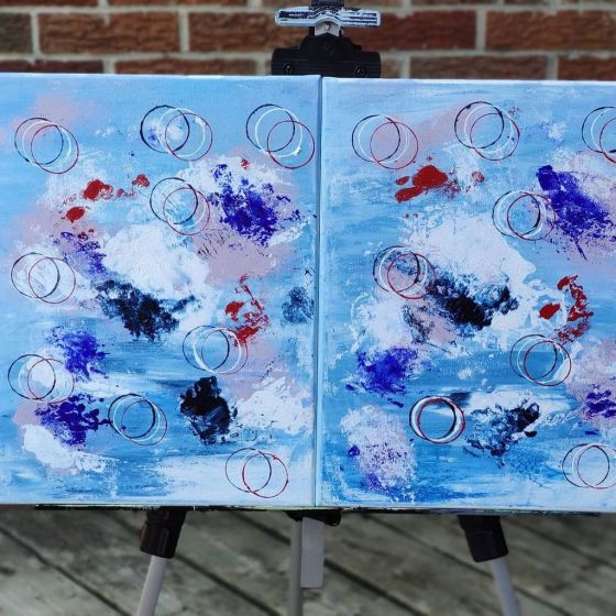 """Three Rings – 11"""" X 14"""" – 2 Pieces"""