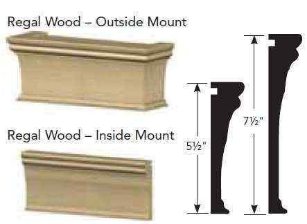 7 1/2 inch Graber Regal Wood Cornices